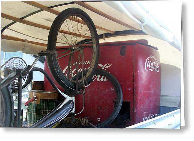 Bike Cola  Greeting Card by Steven Digman