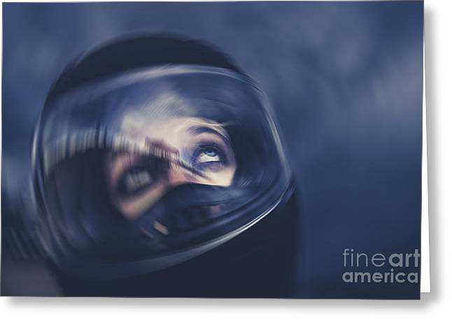 Bike Crash Greeting Card by Jorgo Photography - Wall Art Gallery