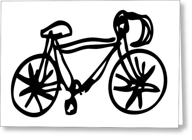 Bike Drawing Greeting Card by Karl Addison