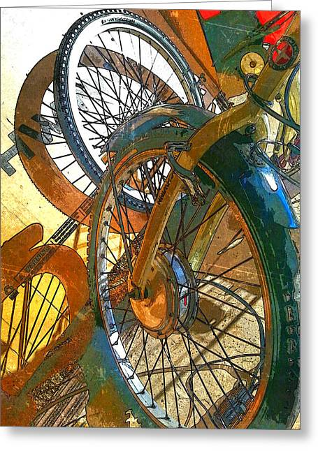 Bike Hub Motor Poster Greeting Card