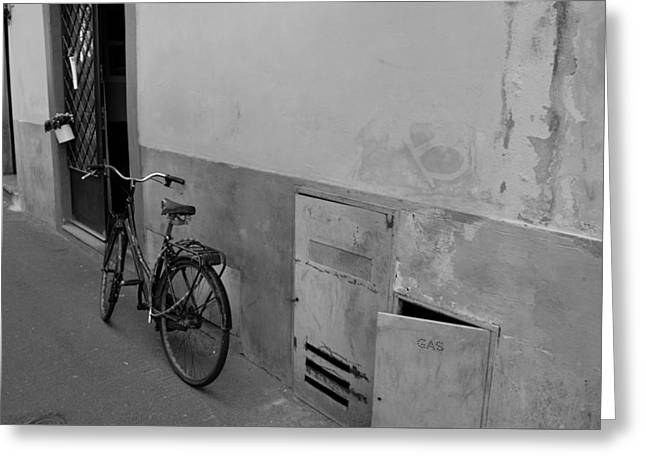 Bike In Alley Greeting Card