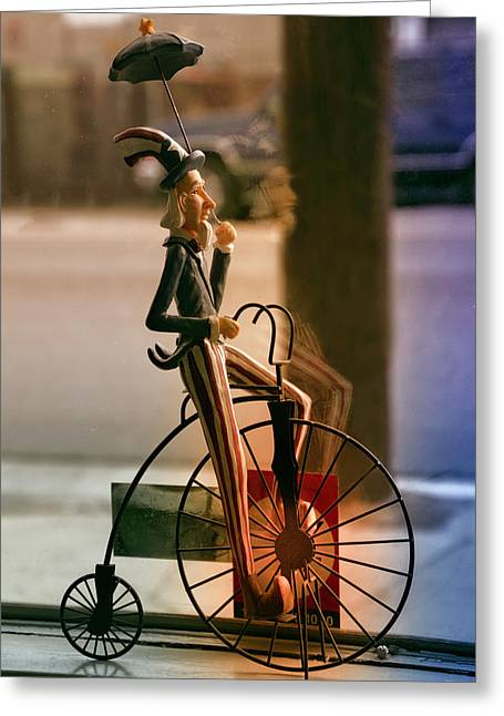 Bike In The Window Greeting Card