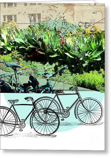 Bike Poster Greeting Card by Deborah Nakano
