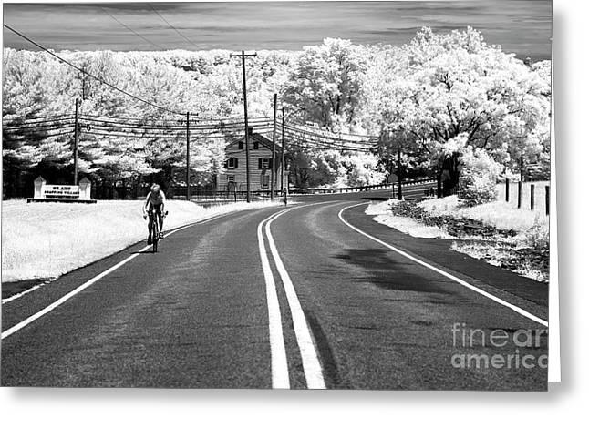 Bike Ride Infrared Greeting Card