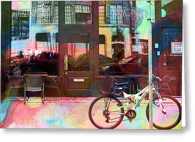 Greeting Card featuring the digital art Bike Ride To Runyons by Susan Stone