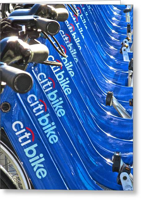 Bike Stand At The Garden Greeting Card