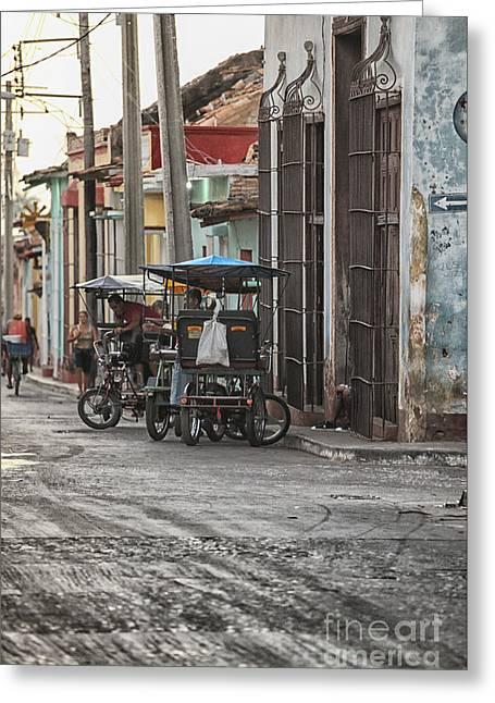 Bike Taxis In Trinidad Greeting Card