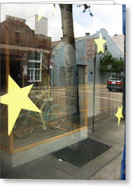 Bike Greeting Card by Tom Hefko