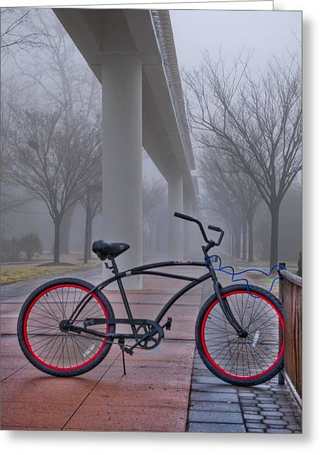 Bike Under Maglev Greeting Card