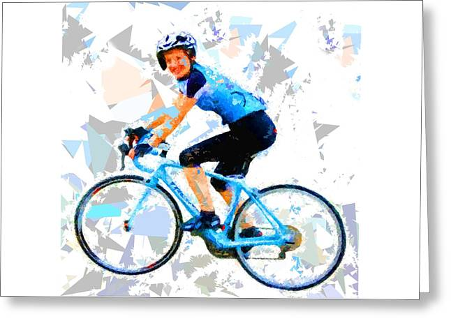 Greeting Card featuring the painting Biker 1 by Movie Poster Prints