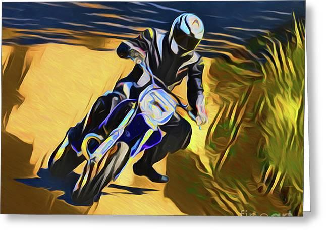 Biker 21018 Greeting Card