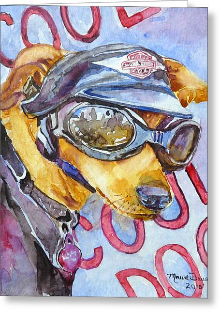 Biker Weiner Greeting Card