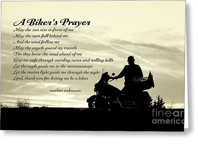 Biker's Prayer Greeting Card