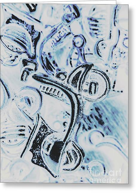 Bikes And Blue Cities Greeting Card by Jorgo Photography - Wall Art Gallery