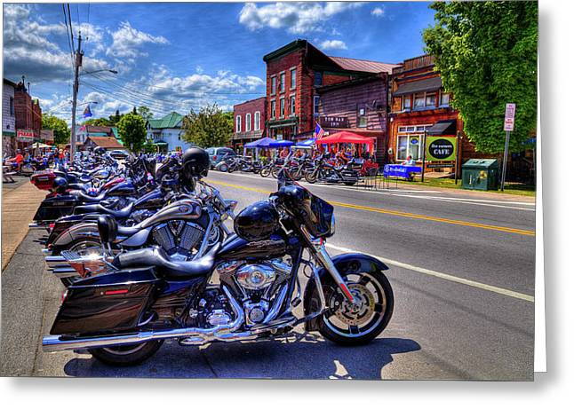 Bikes And Brews In The Adk Greeting Card