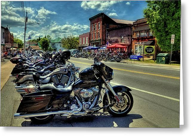 Bikes And Brews - Old Forge Ny Greeting Card