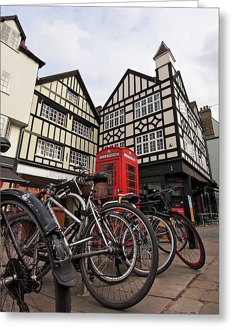 Bikes Galore In Cambridge Greeting Card by Gill Billington