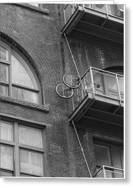 Bikes On Balcony Greeting Card by Denise McKay
