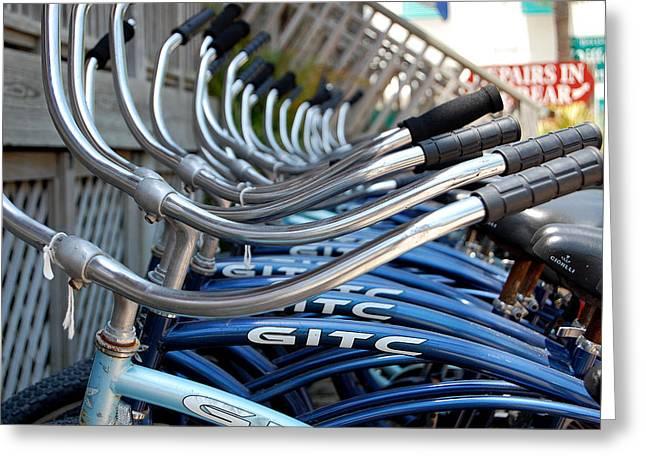 Bikes Greeting Card by Steven Scott