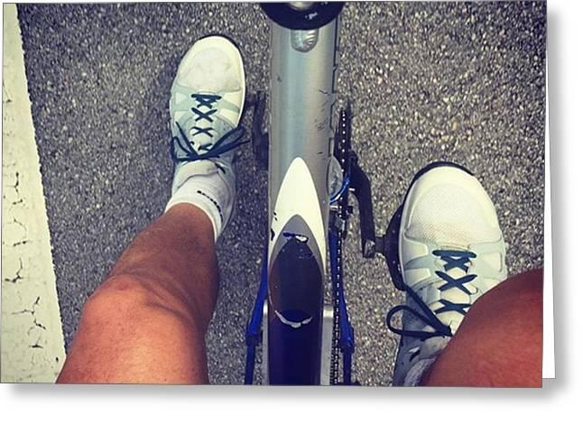 Biking #juansilvaphotos #photographer Greeting Card