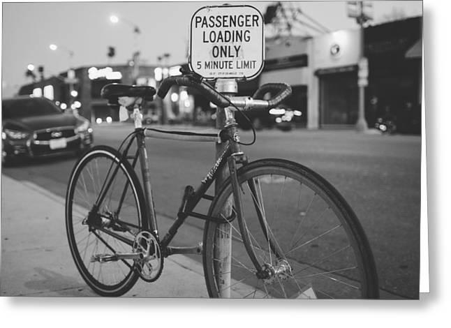 Biking Melrose Greeting Card by Kyle Morris