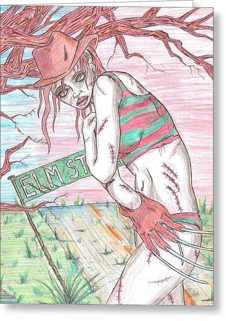 Bikini Freddy Greeting Card by Michael Toth