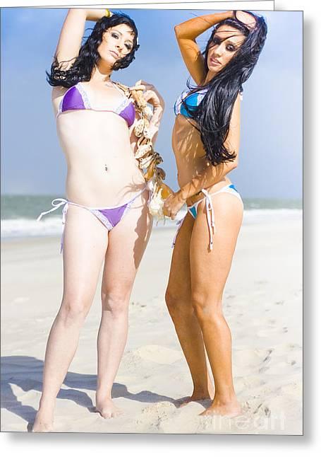 Bikini Models Greeting Card