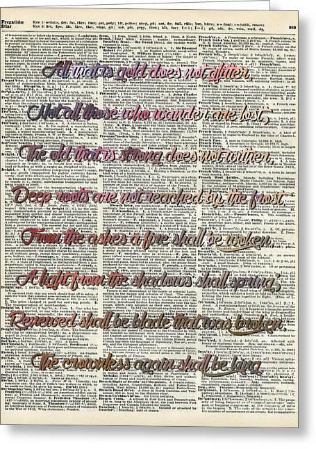 Bilbo Baggins Quote Vintage Art Greeting Card