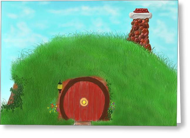 Bilbo's Home In The  Shire Greeting Card