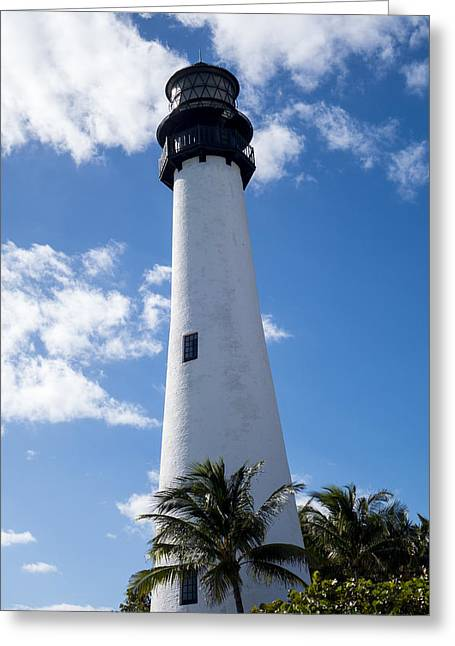 Bill Baggs Lighthouse Cape Florida State Park Palm Trees Greeting Card by Toby McGuire