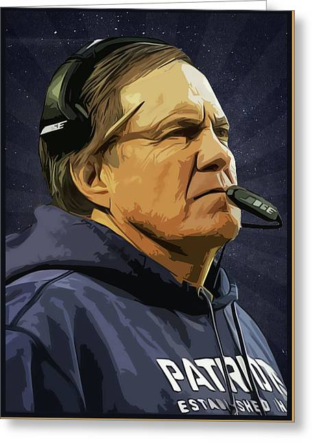 Bill Belichick  Greeting Card by Semih Yurdabak