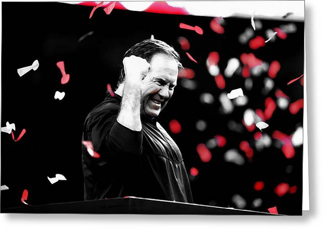 Bill Belichick Superbowl Victory Greeting Card