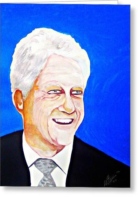 Bill Clinton 2011 Greeting Card by Ken Higgins