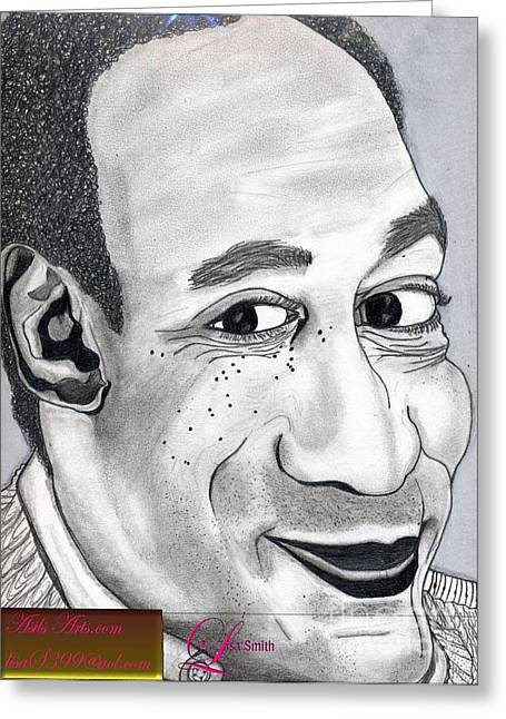 Bill Cosby Greeting Card by Asils Arts Lisa