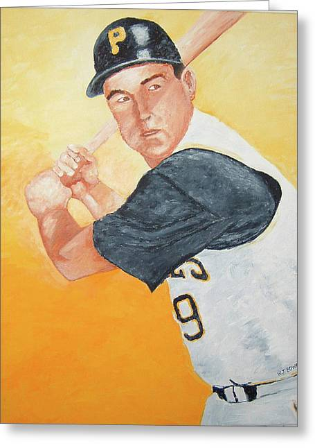 Bill Mazeroski Greeting Card by William Bowers