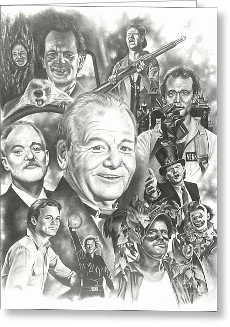 Bill Murray Greeting Card by James Rodgers