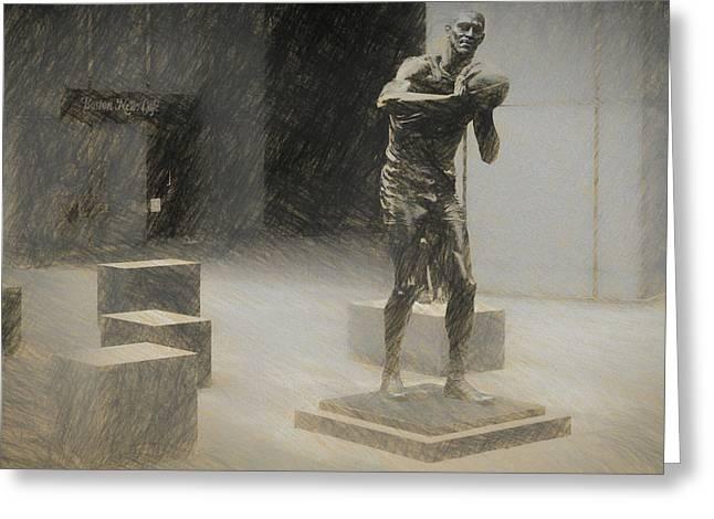 Bill Russell Statue Greeting Card