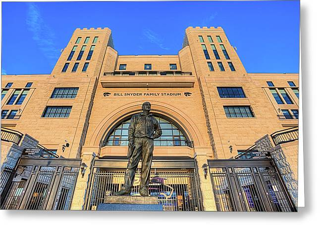Bill Snyder Family Stadium  Greeting Card by JC Findley