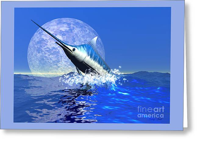 Billfish  Greeting Card by Corey Ford