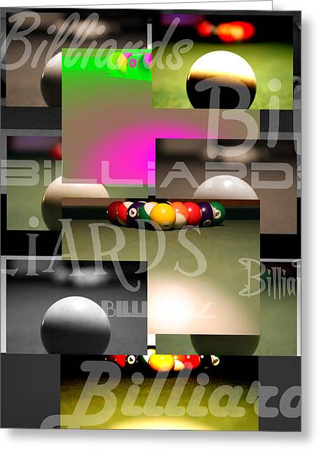 Billiards Greeting Card by Andre  Persun