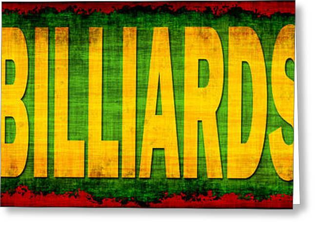 Billiards Greeting Card by David G Paul