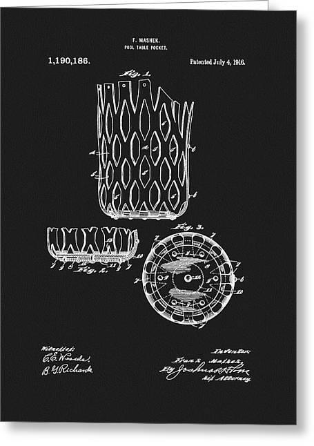 Billiards Table Pocket Patent Greeting Card