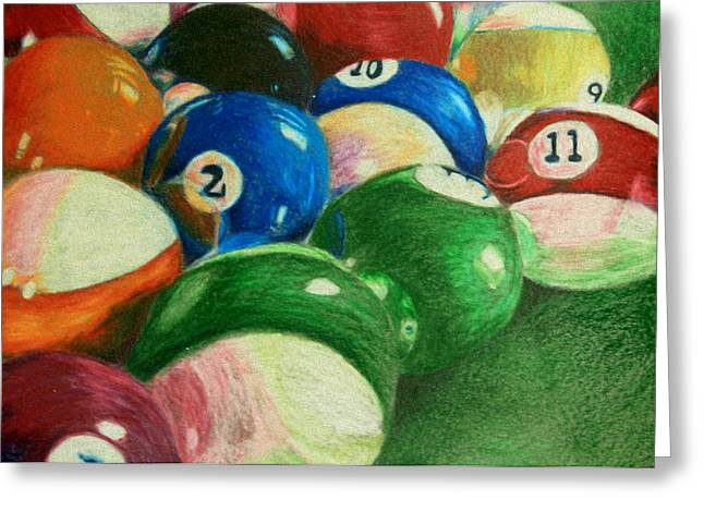 Billiards Time Greeting Card by Robert Hodgson