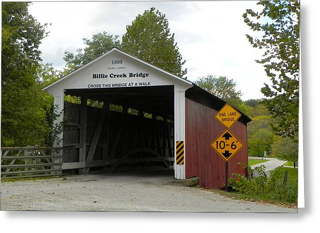 Billie Creek Bridge Greeting Card by Robert Turner