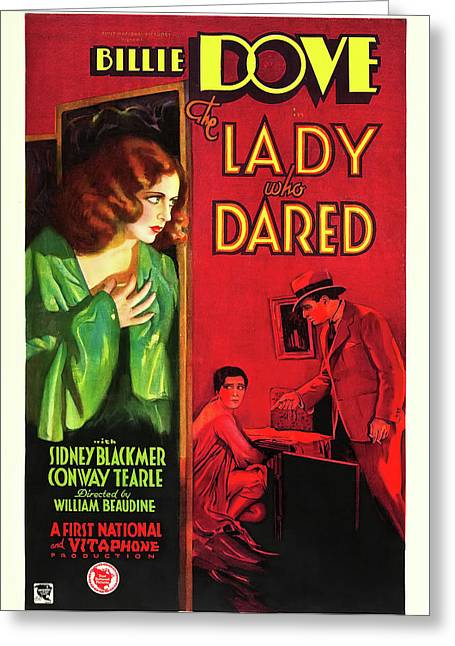 Billie Dove In The Lady Who Dared 1931 Greeting Card by Mountain Dreams