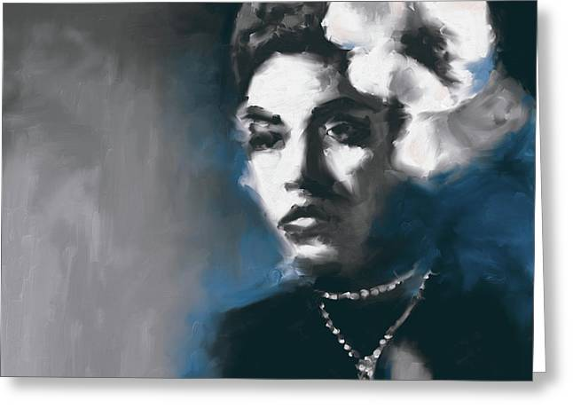 Billie Holiday 549 3 Greeting Card by Mawra Tahreem