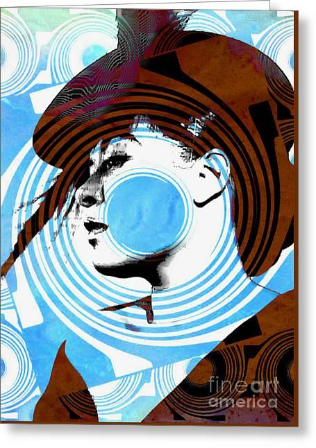 Billie Holiday Blues Singer - Pop Art Greeting Card by Ian Gledhill