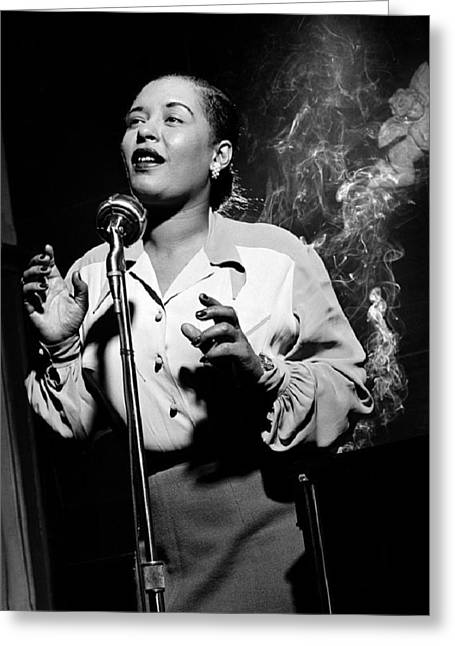 Billie Holiday  New York City Circa 1948 Greeting Card by David Lee Guss