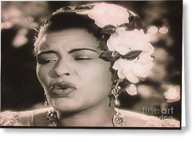 Billie Holiday Six Greeting Card by Billie Holiday Six