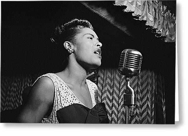 Billie Holiday William Gottlieb Photo New York City 1947 Greeting Card